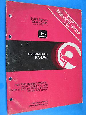 John Deere 9000 Grain Drill Operators Manual
