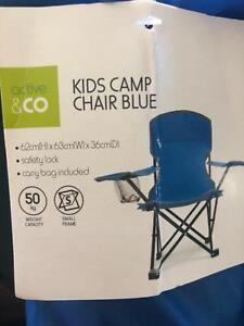 2 as new blue kids camp chair