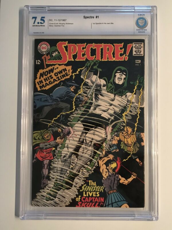 Spectre 1 1967 cbcs 7.5 (not cgc) 1st In Title Old Case Never Pressed!