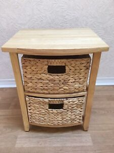 End table with baskets new