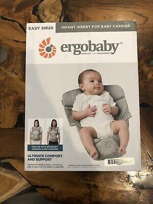 Ergobaby Easy Snug Infant Insert For Newborn Baby Carriers Slings (Open Box)