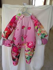 Ted Baker Baby Girl Padded Onesie Size00 BNWT Shower Resistant South Perth South Perth Area Preview