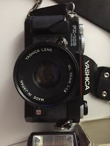 Yashica fx-103 camera and flash