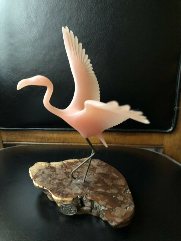 "FLAMINGO from JOHN PERRY 8"" tall sculpture"