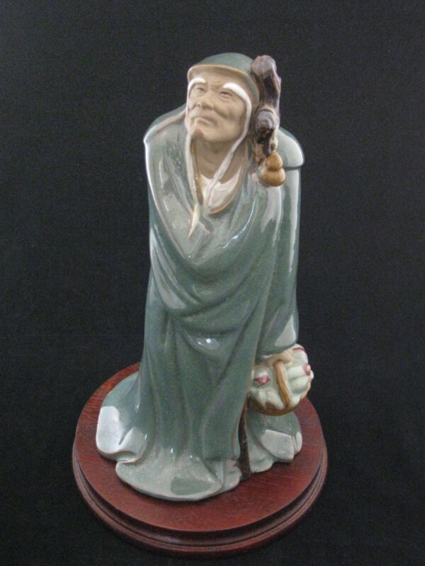 """Wanjiang Pottery 11.5"""" Tall Figurine One of Seven Lucky Gods"""