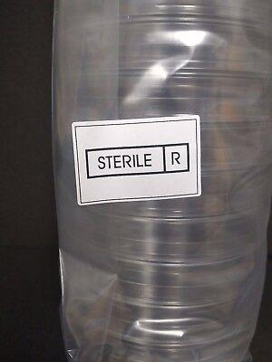 100 X 15 Mm Sterile Plastic Petri Dishesplate Sterile 2 Packs Of 20 40 Total