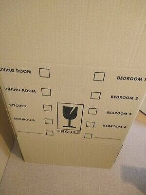 5 DOUBLE WALL - strong cardboard removal boxes 4 big 1 medium