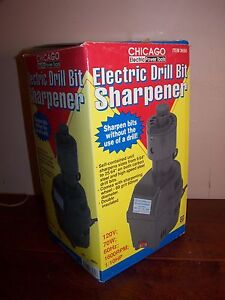 CHICAGO ELECTRIC DRILL BIT SHARPENER - LOOKS NEW IN BOX WITH PAPERS LOOK