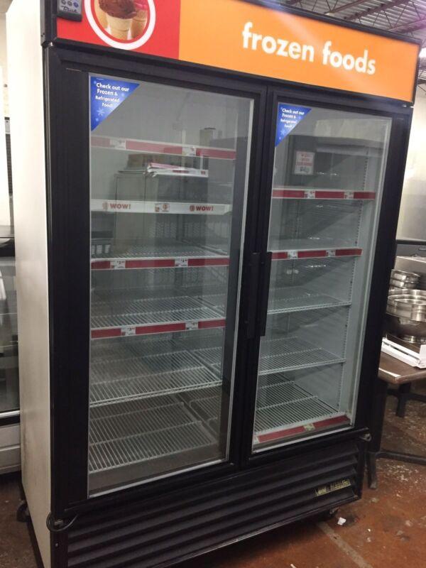 True GDM-49F Freezer Glass Double Doors