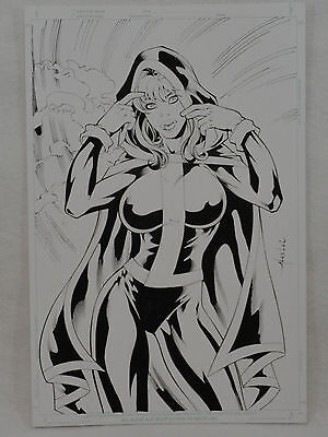 Rogue X-Men Original Artwork by Alex Lei 11x17 Pin-up Drawing