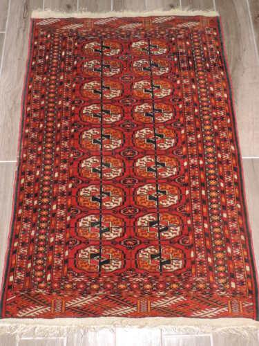 3x4ft. Vintage Handmade Bokharra Wool Rug