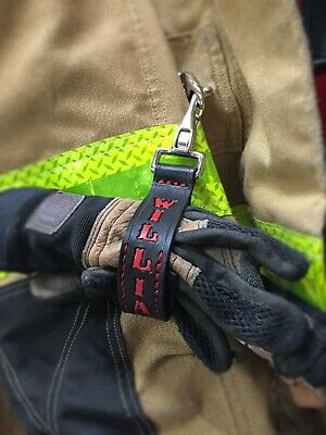 Firefighter Gift - Personalized Firefighter Glove Strap - Handmade By A Fireman