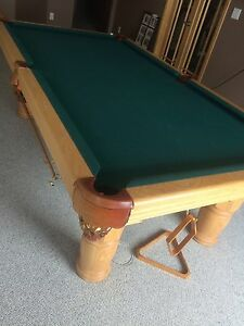 Snicker cut pool table
