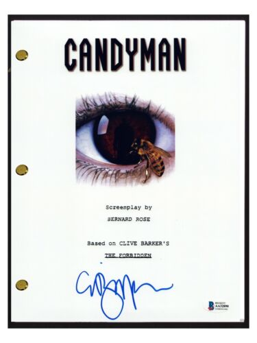 Clive Barker Signed Autographed Candyman Movie Script Horror Beckett COA