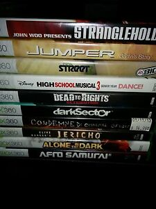 Xbox 360 games for sale 5 dollars each