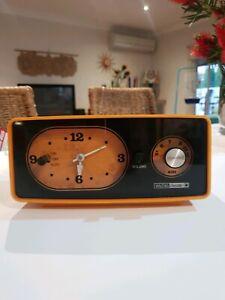 Vintage Waltons Celestial Retro Orange Clock Radio Alarm