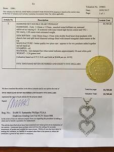 2 CARAT diamond pendant 18 K gold appraisal included Renmark Renmark Paringa Preview