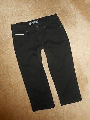 Faded Glory Capri Jeans - Faded Glory Capri Jeans Shorts sz 10 womens 30x19.5 black denim stretch #722