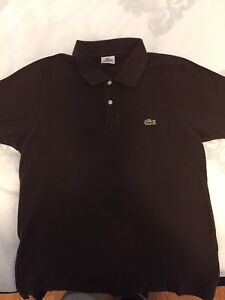(MEDIUM) BROWN LACOSTE POLO T-SHIRT