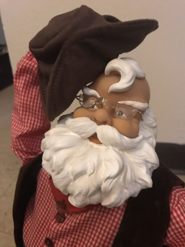 Gemmy Animated Rawhide Santa Rare With Box
