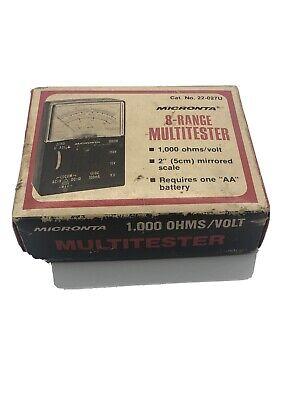 Vintage Micronta 8 Range Multitester 1000 Ohmsvolt