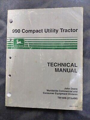 John Deere 990 Compact Utility Tractor Technical Manual