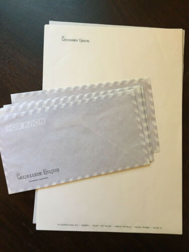 Castellana Hilton Hotel, Vintage Stationary Lot,Letter sheets & Envelopes
