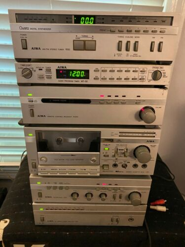 VINTAGE AIWA STEREO AMPLIFIER PRE AMP TUNER RECEIVER TAPE DECK FOR PARTS REPAIR