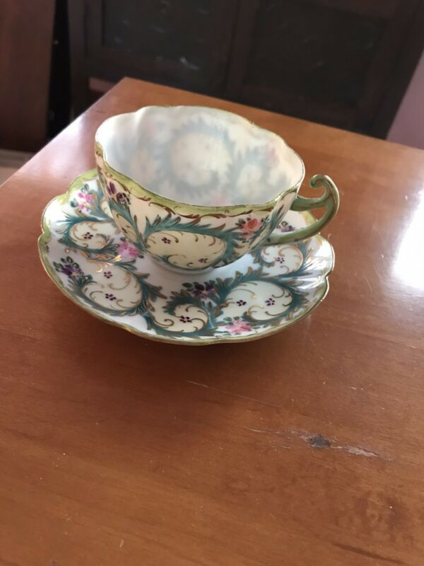 Antique Japanese Porcelain Cup & Saucer With Mark