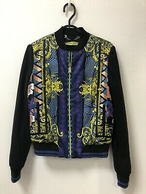 Ladies Versace Multicoloured Bomber Jacket Size 12
