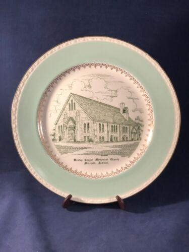 Vintage Wesley Chapel Methodist Church Plate Mitchell, Indiana