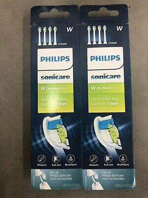 8x Philips Sonicare DiamondClean HX6064/65 Replacement Toothbrush Brush Heads 8