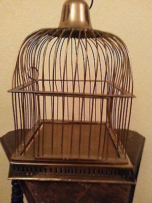 Vintage - Solid Brass Bird Cage