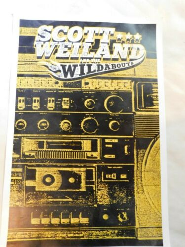 Scott Weiland and the Wildabouts 11x14  Poster 2015 Limited edition 186/250 S2