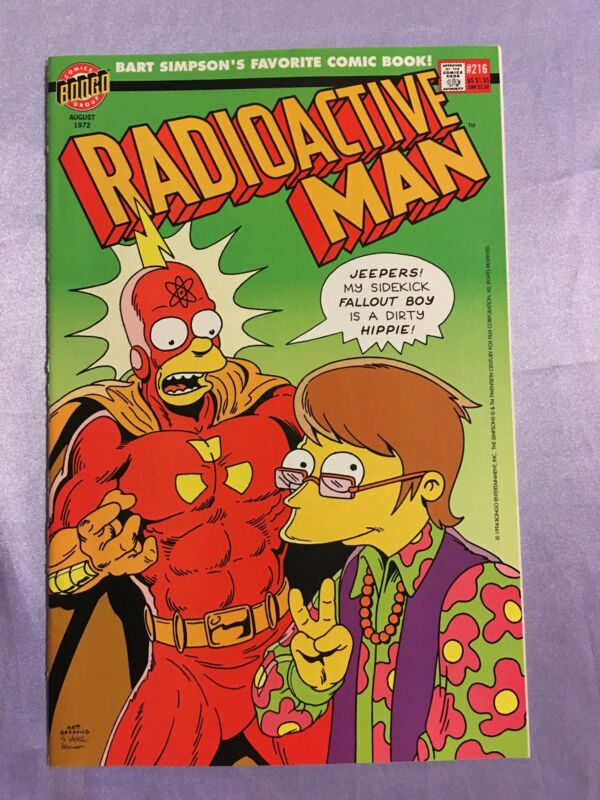 RADIOACTIVE MAN #216~MATT GROENING~SIMPSONS/HOMER~BART~TV SOW~BONGO~NM