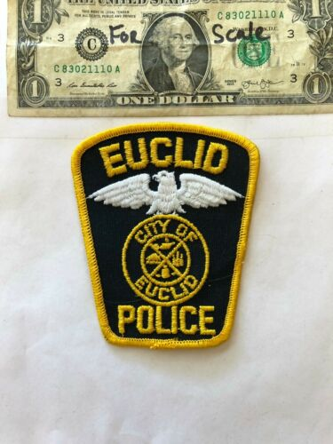 Euclid Ohio Police Patch un-sewn in great shape