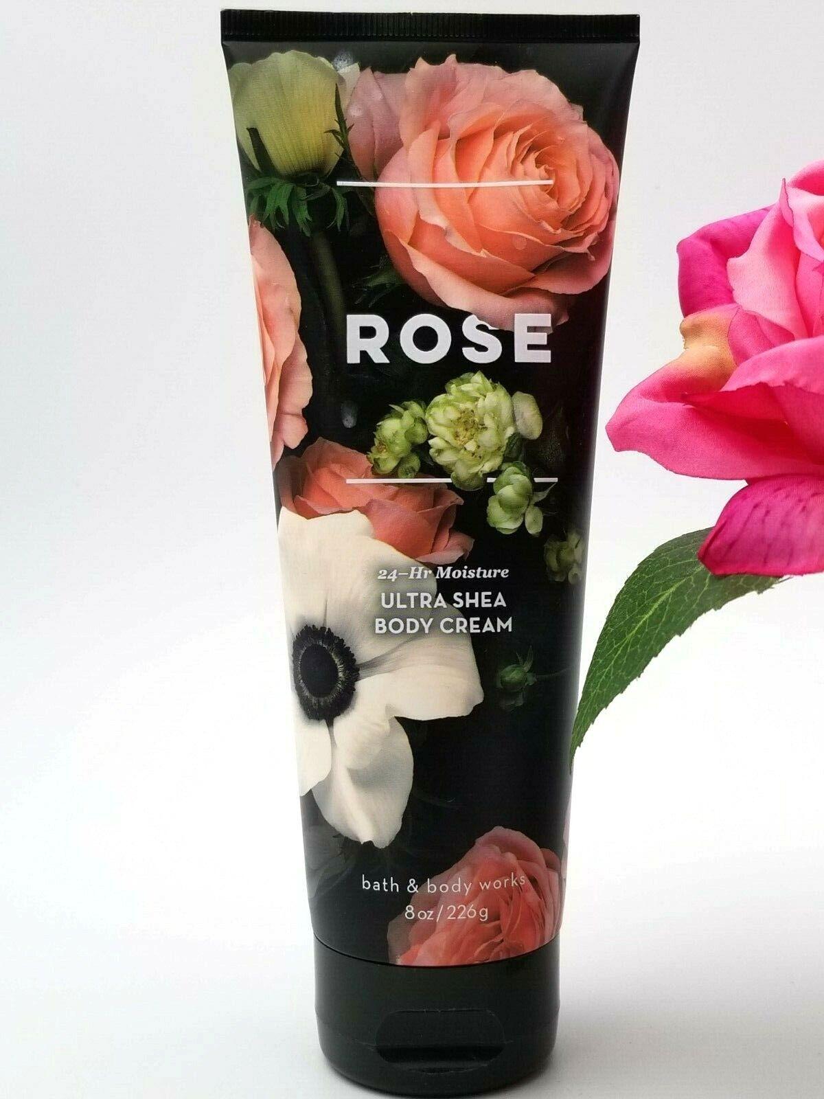 Bath and Body Works Rose Ultra Shea Body Cream 8 Ounce Meder