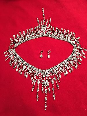Wedding Bridal Party Shoulder Chain Necklace Jewelry - U.S Seller