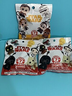 Funko Pop! Star Wars Solo Mystery Mini Plushies Collectible Plush Keychain 3 Pks