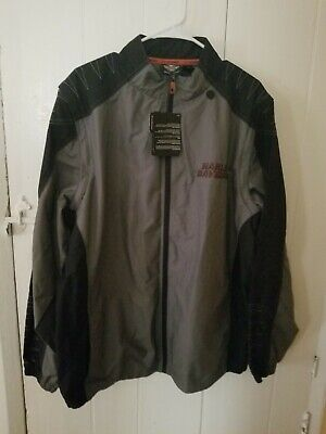 Mens Harley Davidson Light Weight Water Resistant Riding Jacket new with tags