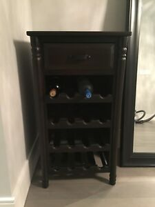 Wine rack cabinet table