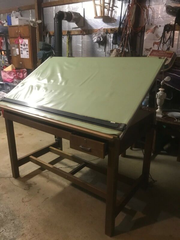 Large Vintage Mayline drafting table good condition.