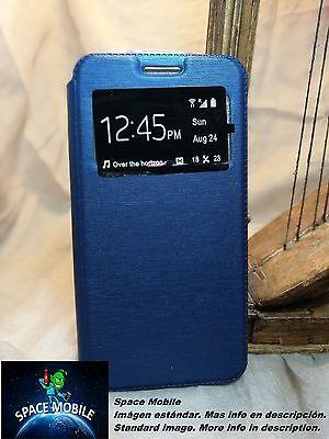 Coque Rabat Livre (Etui) BQ Aquaris A4.5 [Bleu / Bleu]