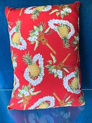 Used, Vintage PINEAPPLE & UKULELE Luau Lei Hawaiian Pillow Company UNIQUE 14/10 ❤️sj3j for sale  Shipping to Canada