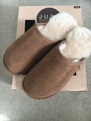Sheepskin slippers: 'Just Sheepskin' men's mules  Size 7/8 new with box