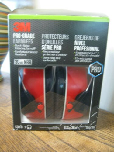 New! 3M Professional Earmuff Hearing Protection 30db Noise Reduction