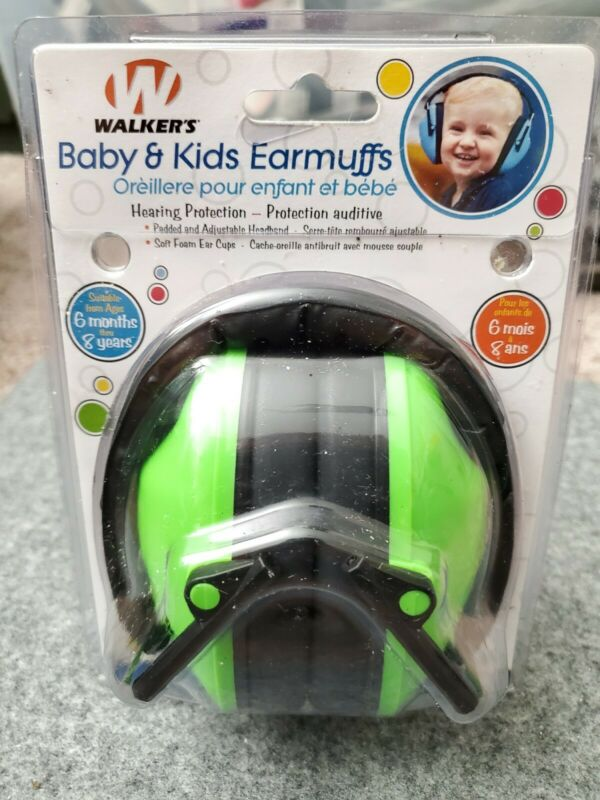 Walkers hearing protection Baby Kids Children  Earmuffs green 6 mnth tp 8yrs