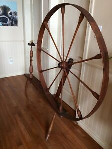 Rustic Vintage Antique 1800's Wooden Spinning Wheel