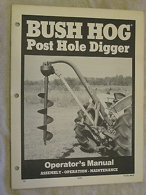 Bush Hog Post Hole Digger Operators Manual
