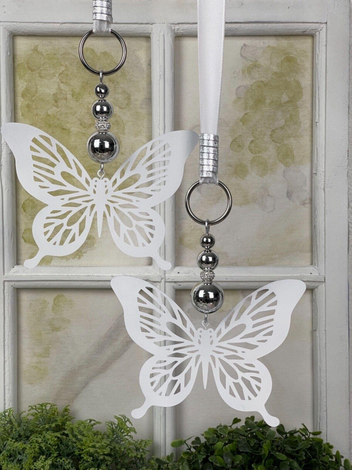 🌹 Fensterdeko, Hänger, Metall Schmetterling, Fensterdekoration, Dekohänger